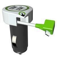 Incarcator auto Q2Power, 3.1A, 2xUSB, 1xLightning, compatibil iPhone, iPad, iPod